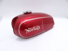 NORTON COMMANDO ROADSTER CHERRY PAINTED PETROL TANK WITH CAP