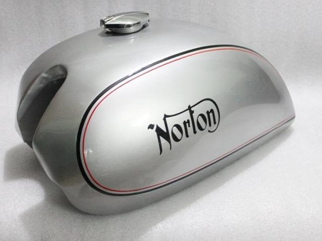 NORTON COMMANDO INTERSTATE 750 850 MKII STEEL GAS FUEL PETROL TANK SILVER PAINTED REPRODUCTION